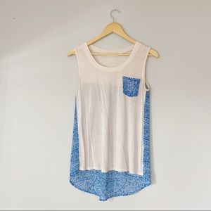 4/$25 Liberty Love sheer patterned back tank